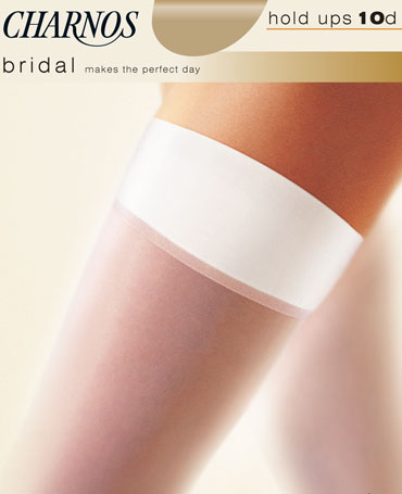 Charnos Bridal Satin Band Hold Ups
