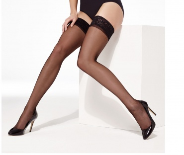 Charnos Elegance Ultra Sheer Lace Top Hold Ups