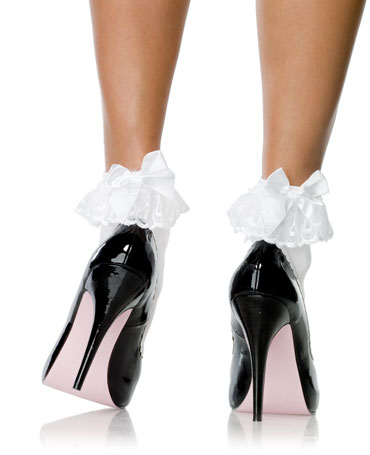 Leg Avenue Anklet With Ruffle And Satin Bow