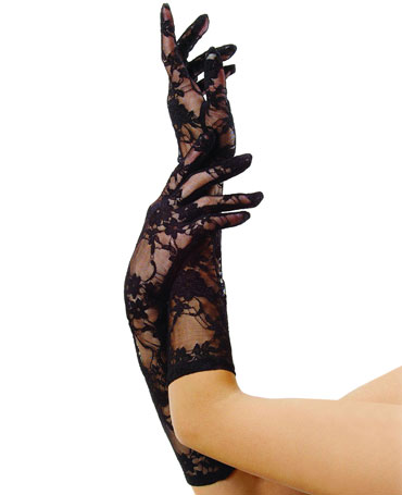 Leg Avenue Long Stretch Lace Gloves