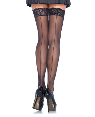 Leg Avenue Lace Top Backseam Stockings