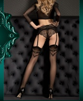 Ballerina Baroque Top And Golden Heel Pattern Stockings
