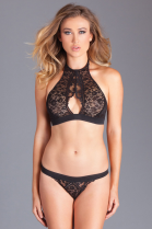 BeWicked Sabrina Closed Neck Lingerie Set