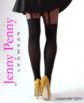 Jenny Penny Mock Suspender Tights