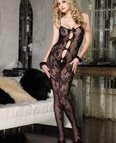Leg Avenue Lace Bodystocking with Keyhole Bow
