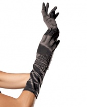 Leg Avenue Long Stretch Satin Gloves
