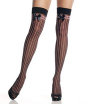 Leg Avenue Opaque Striped Stockings