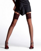 Le Bourget Essentiel Stockings - Black & Red Top