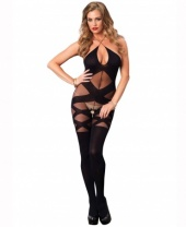 Leg Avenue Opaque & Sheer Illusion Bodystocking