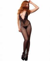 Leg Avenue Chantilly Lace Fishnet Bodystocking