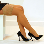 Legbella Satin Sheer Plus Size Stockings
