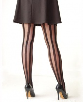 Pamela Mann Solid Sheer Stripe Tights