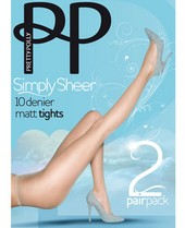 Pretty Polly Simply Sheer 10 Denier Tights 2 Pair Pack