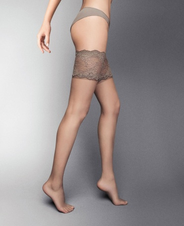 Veneziana Desiderio Lace Top Hold Ups