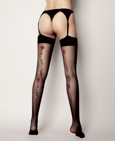 Veneziana Madlene Flower Seam Stockings