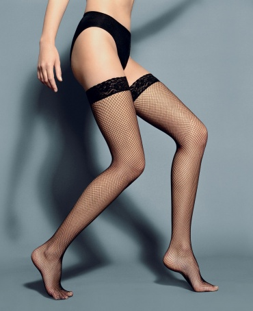 Veneziana Rete Lace Top Fishnet Hold Ups