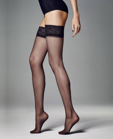 Veneziana Silvi Lace Top Hold Ups