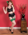 What Katie Did Natural Green Seamed Contrast Stockings