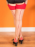 What Katie Did Natural Red Seamed Contrast Stockings