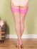 What Katie Did Natural Pink Seamed Contrast Stockings