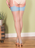 What Katie Did Natural Sky Blue Seamed Contrast Stockings
