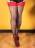 What Katie Did Black Red Seamed Contrast Stockings