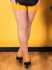 What Katie Did Natural Mustard Seamed Contrast Stockings