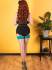 What Katie Did Natural Teal Seamed Contrast Stockings