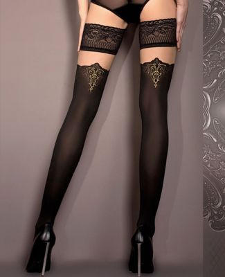 Ballerina Oriental Lace Top Hold Ups