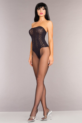 BeWicked Strapless Bodystocking With Open Crotch