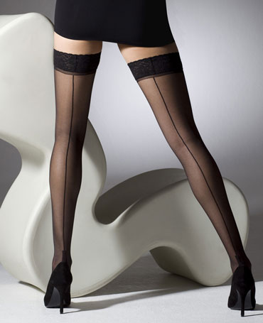 Gipsy Seamed Lace Top Hold Ups