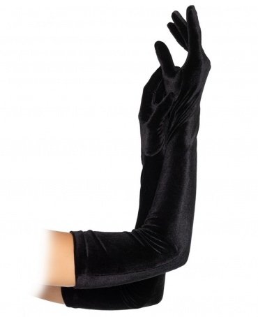 Leg Avenue Velvet Opera Length Gloves