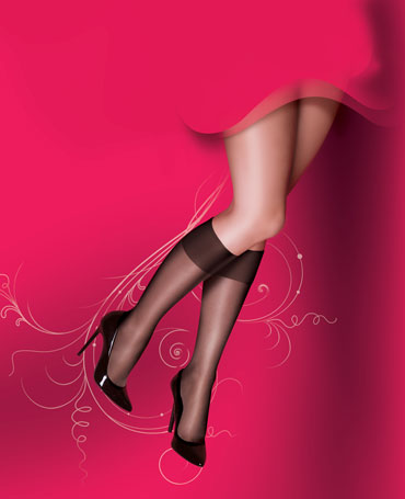 Pretty Polly Curves Knee Highs 2PP