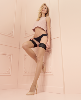 Trasparenze Rosy Contrast Top Hold Ups