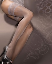 Ballerina Smoke Sparkle Lace Top Hold Ups