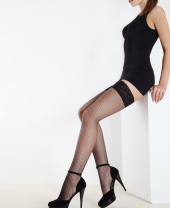 Giulia Emotion Rete Fishnet Lace Top Hold Ups