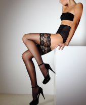 Giulia Passion 20 Denier Lace Top Hold Ups