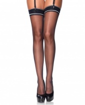 Leg Avenue Striped Band Sheer Stockings