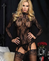 Leg Avenue Lace Garter Top