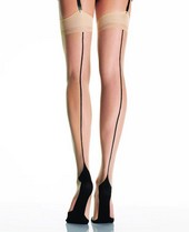 Leg Avenue Cuban Heel Stockings With Backseam