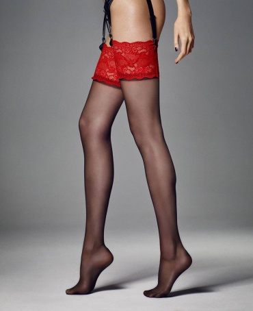 Veneziana Esmeralda Deep Lace Top Stockings