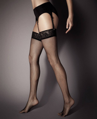 Veneziana Rete Lace Top Fishnet Stockings