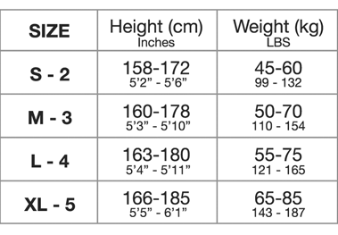 Miss O Size Guide